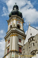 The tower of Grabkirche - St Peter and Paul church