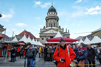 Tony at the Gendarmenmarkt Christmas market