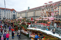 View of some Christmas market stalls