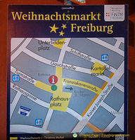 Map of Freiburg Weinachtsmarkt