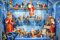 Display of Santa and his helpers