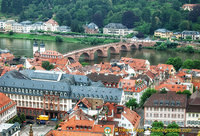 View of Alte Brucke and Neckar River