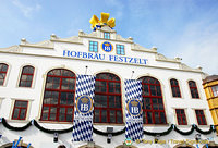 Hofbräu-Festzelt, the second largest of the Oktoberfest tents