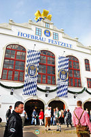 Hofbräu-Festzelt sponsored by the Hofbräuhaus Brewery