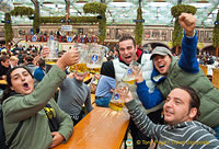 A very happy Oktoberfest group
