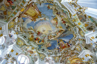 Elaborate ceiling frescoes