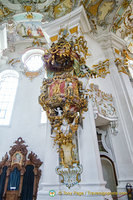 Wieskirche interior decorations