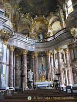 Richly decorated interior of Residenz Hofkirche