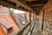 On our Rothenburg wall walk