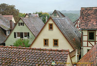 The roof-tops of Rothenburg