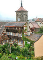 Rothenburg fortress tower view