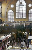 The large glass windows allow for maximum light in the Great Market Hall