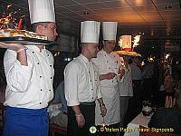 A parade by the chefs