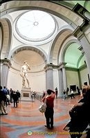 Michelangelo's David is the star of the Galleria dell'Accademia