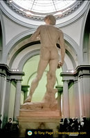 This marble statue of David weighs 6 tonnes