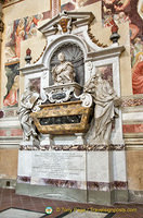 Galileo's Tomb in the Basilica of Santa Croce