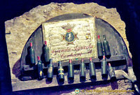 Ancient bottles of Contucci wines in the dungeon