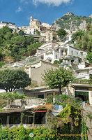 Positano sits on terraces from the main road down to the beachfront