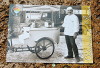 Sergio treats the film crew of Tea with Musolini with his gelato, served from a period cart