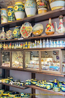 A range of pottery products