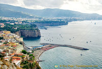 View of Sorrento and its harbour