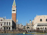 View of St Mark's Square from the Grand Canal