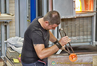 This demo was part of the Murano glass factory tour