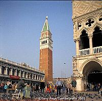 The Campanile with the Doge's Palace on the right