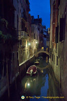 An atmospheric shot of a Santa Croce canal