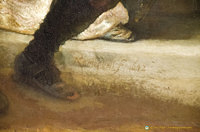 Rembrant's 1642 signature on the Night Watch