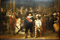Rembrandt's Night Watch is a portrait of a group of the city's militiamen