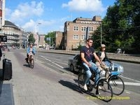 Bicycles are the most common mode of transport in Amsterdam