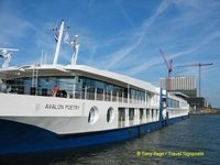 Avalon Poetry at the Amsterdam Cruise Terminal