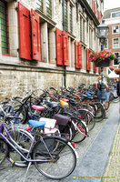 Bicycles - a main means of travel in Delft
