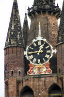 Clock tower of the Oude Kerk