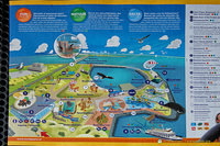 Map of attractions at the Neeltje Jans Deltapark