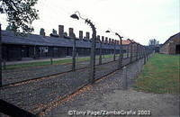 Auschwitz concentration camp buildings