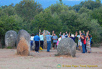 Some, like this group, still believe the Cromlech to be a religious site