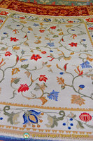 The popular floral weave of Arraiolos carpets