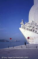 Monument to the Discoveries - rebuilt in concrete in 1960