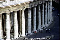 Cellini's pillars, St Peter's Square, Rome