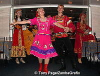 Folk dancing on a Neva River Cruise
