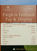 Car parking fees at the Culloden Visitor Centre