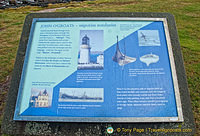 Signboard about the coastal walk to the Ness of Duncansby