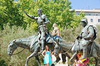 Everyone wants a picture with Don Quixote