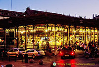 Night view of the Mercado de San Miguel