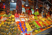 Fruit stand at the San Miguel market