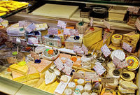 Beautiful spread of Spanish cheeses