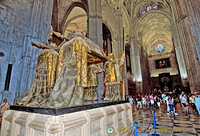 Christopher Columbus' tomb dates from 1890s