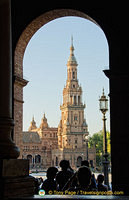 An artist's view of the Plaza de Espana tower